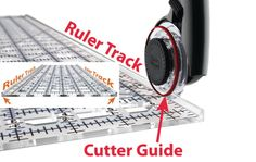 All rulers have tracks to accommodate the guide of Comfort Cutters, TrueCut uses clear ABS and through injection moulding, these rulers will keep their markings. They are also stronger and can withstand bending, warping, cracking and chipped corners better than any other ruler on the market.