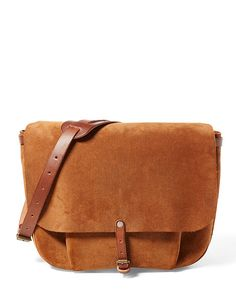 29c029aac1 Roughout Leather Messenger Bag - RRL Messenger Bags - RalphLauren.com