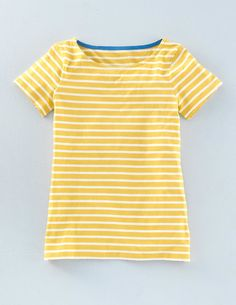 ***Couldn't resist stripes in a sunny yellow for summer. Short Sleeve Breton