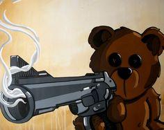 Teddy Bear Print Pop Art Lowbrow Art by Mike Best - Do you feel lucky Traditional Japanese Tattoos, Gothic Fairy, Lowbrow Art, Bear Print, Pop Surrealism, Eye Art, Fairy Art, Art Google, Body Painting