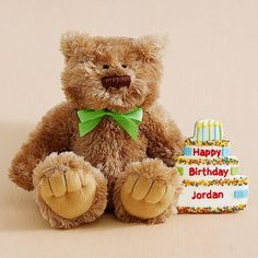 Birthday Bear with Personalizable Giant Cookie