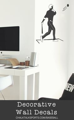 Decorate your space for your lifestyle with one of our baseball wall decals. Easy on and easy off, they're a great way to stylize your space for who you are. Check them out today! Baseball Room Decor, Baseball Wall Art, Gifts For Baseball Players, Personalised Frames, Custom Pillow Cases, Room Signs, Wall Decals, Picture Frames, Lifestyle