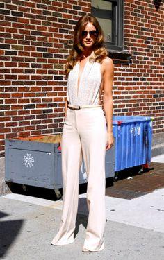 Rosie Huntington-Whiteley in Michael Kors jumpsuit