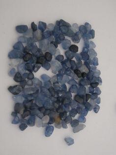 Sapphire crystals (corrundum)