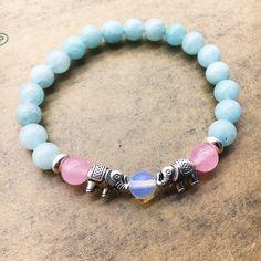 Elephant Bracelet Natural Stone Bead Bracelet For women Men Jewelry yoga jewelry summer beach accessories