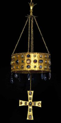 Seventh century Visigothic votive crown