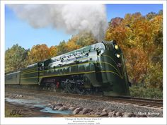 Chicago & North Western Railway (C&NW) Streamlined Hudson type locomotive. Diesel Punk, Wagon Trails, Train Illustration, Old Steam Train, Railroad Pictures, Union Pacific Railroad, Steam Railway, Train Art, Old Trains