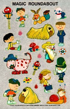 The Magic Roundabout characters- I remember them well...
