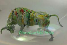 Glow Effect, Modern Art, Resin, Jitter Glitter, Glass
