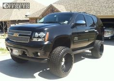 Image result for chevy tahoe offset rims wheels