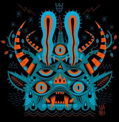 by seb niark Art And Illustration, Monster Illustration, Illustrations, Abstract Geometric Art, Desenho Tattoo, Inspiration Art, Lowbrow Art, Wow Art, Arte Popular