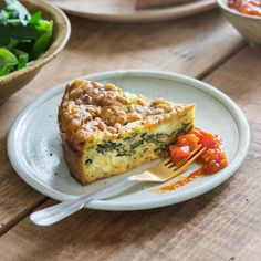 A cheesy and delicious recipe from Chelsea Winter& new cookbook Scrumptious. Vegetarian Quiche, Vegetarian Recipes, Healthy Recipes, Spinach Feta Quiche, Chelsea Winter, New Cookbooks, Winter Food, Lunch Recipes, Fritters