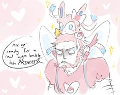 Can You Imagine a Fairy Type Gym Leader? I actually think he/she would be fairy-esque, with fake wings and such. But I guess we'll find out.