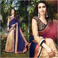 Buy Now @ http://www.ethnicduniya.com/product/blue-and-brown-georgette-net-embrodiered-saree/  Blue and Brown Georgette Net Embrodiered Saree  Make the heads turn the moment you costume up with this gorgeous Navy Blue & Tan Brown Net Saree. The ethnic Lace & Resham work at the clothing adds a sign of attractiveness statement with your look.  Product Code : EDC112  Price : 4080 INR  @ www.ethnicduniya.com  #saree #lehengasaree #lehenga #dressyourface #bridal #wedding #partyw..