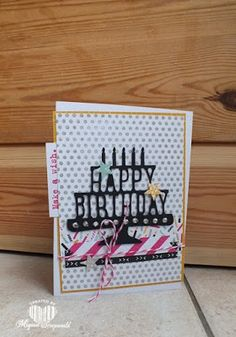 Magical Scrapworld: Happy birthday, cards, dots for days, itty bitty accents punch, party with cake, Stampin' Up!