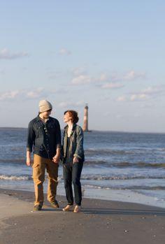 Amanda and Tony / Engagement / Folly Beach, SC