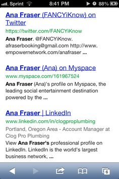 Google me :-) I have finally achieves my goal and made it to the first page of google. I am a blogger who provides valuable content daily. Please follow me on all my social networks. Please Checkout my blog! http://www.anafraser.blogspot.com Watch this FREE video It was almost a secret! http://ibourl.com/1b23  To earn money as a blogger please enter your email address to recieve the information needed. Please text 404-488-5558 to join and work with me directly. The next 5 people to join my…