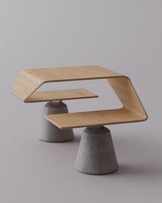 Bauhaus Furniture, Concrete Furniture, Concrete Wood, Urban Furniture, Street Furniture, Concrete Design, Metal Furniture, Unique Furniture, Modern Furniture Design