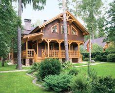 Двухэтажный деревянный дом из клееного бруса | Дома из клееного бруса | Журнал «Деревянные дома»