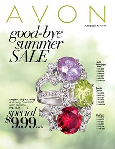 eBrochure | AVON  End of summer deals and Steals. Start by glamming it up with these beautiful rings.