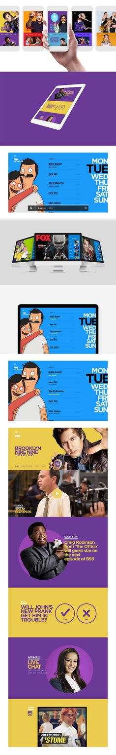 FOX.COM - Extending the TV Show Experience. First, give viewers what they want: Episodes. Then you can keep them engaged with cool extras. Our solution integrated each show's social media into a single-channel, creating the perfect destination for hard core fans and a real utility for all users. - by Lucas Hirata #behance #webdesign #interactiondesign