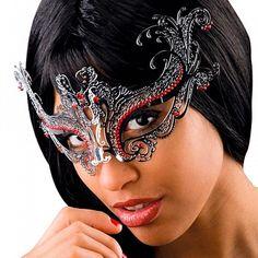 Металлическая венецианска маска «Карагюль»