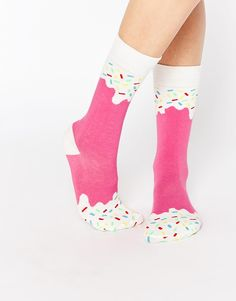 Doiy Strawberry Ice Pop Socks