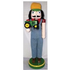 Santa's Workshop Farmer with JD Tractor Nutcracker