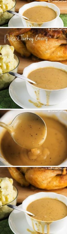 Perfect Turkey Gravy Recipe - a Thanksgiving Menu Must!   CenterCutCook - The BEST Classic, Improved and Traditional Thanksgiving Dinner Menu Favorites Recipes - Main Dishes, Side Dishes, Appetizers, Salads, Yummy Desserts and more!