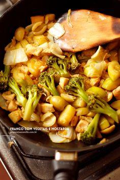 Frango com vegetais e um toque de improviso Sukiyaki, 1, Meat, Chicken, Toque, Vanilla, Recipes, Foods, Blog
