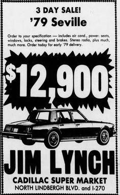Used Car Lots, Sports Sedan, Old Cars, Cadillac, 1970s, Ads