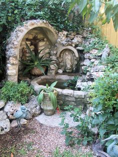 1000 images about grotto with a pond on pinterest for Garden grotto designs