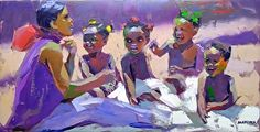 The Babies by artist Makiwa Mutomba. Found on the FASO Daily Art Show -- http://dailyartshow.faso.com