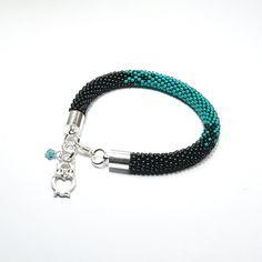 Handmade Beaded Bracelet. Bead Crochet Bracelet. by ArtStyleBizu