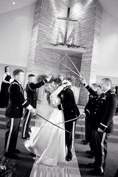 Loved having an army wedding!!