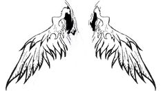 Winged Sword by Gothic-Moon. by tattoo-designers on DeviantArt Free Tattoo Designs, Wing Tattoo Designs, Fallen Angel Tattoo, Tattoo Outline, Gothic, Angel Wings, Tattoos, Simple, Goth