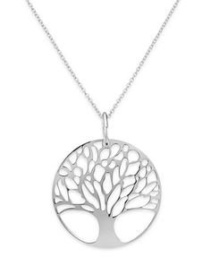 Giani Bernini 24k Gold over Sterling Silver or Sterling Silver Tree of Life Pendant Necklace | macys.com