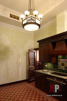 Фото интерьера кухни квартиры в стиле модерн