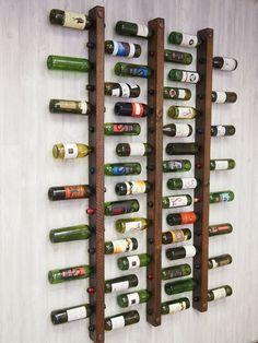 Tuscan Wine Rack 16 Bottle Ladders - Set of 3 by VetrinaDelVino on Etsy