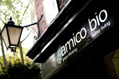 Maybe if I pin it, I'll remember to go... Amico Bio - Vegetarian Organic Italian Restaurant - London.