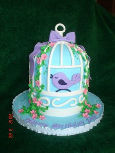 Bird cage cake by valscustomcakes, via Flickr