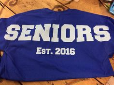 Senior Oversized Print Tshirts Class of 2016 by TheShirtPlace