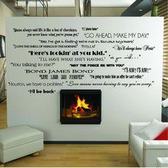 Classic Movie Quotes Collage.....movie room!