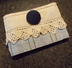 Repurposed Vintage Lace and Button Shirt Cuff Bracelet. $8.00, via Etsy.