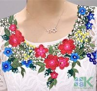 New patchs accessories DIY patches collar 3D Collar Embroidered lace Applique Fabric Wedding Dress Accessories DIY Sew Cloth lac