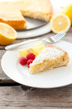 Cheesecake collides with lemon butter cake and creates this rich, creamy, lemony, dense and irresistiblecake that won't easily be forgotten. This cake is full of that fresh, zesty lemon flavor and with its cheesecake combination its sure tosatisfythat decadent dessert craving. There are several ways to serve this