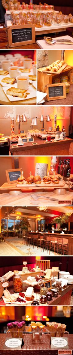 Christmas themed Winter Wedding Food - Mac & Cheese Bar, Pretzels, Pigs in a Blanket, etc was the original discription... I'm thinking more snack bar or whatever and removing some items...