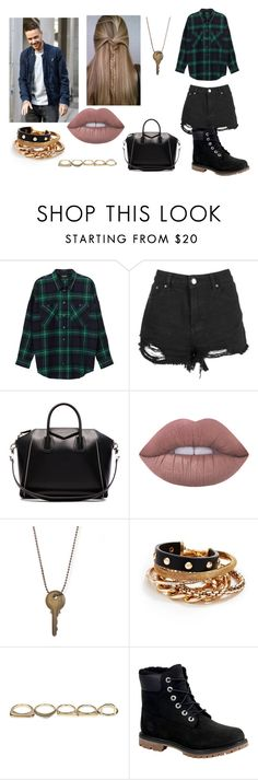 """""""Lunch with Liam"""" by starsoutifit ❤ liked on Polyvore featuring Payne, Monki, Boohoo, Givenchy, GUESS, Sole Society and Timberland"""