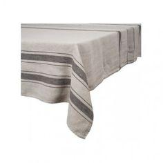 Nappe lin stone wash Aubagne - nappe lin lavé pur lin épais - nappe de table finition ourlet - Nappes Harmony Textile