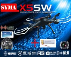 Free Shipping! Black Syma X5SW FPV 2.4G 50M RC Drone Quadcopter 2.0MP Wifi Camera+ 1 Battery     Tag a friend who would love this!     FREE Shipping Worldwide     Get it here ---> https://shoppingafter.com/products/free-shipping-black-syma-x5sw-fpv-2-4g-50m-rc-drone-quadcopter-2-0mp-wifi-camera-1-battery/